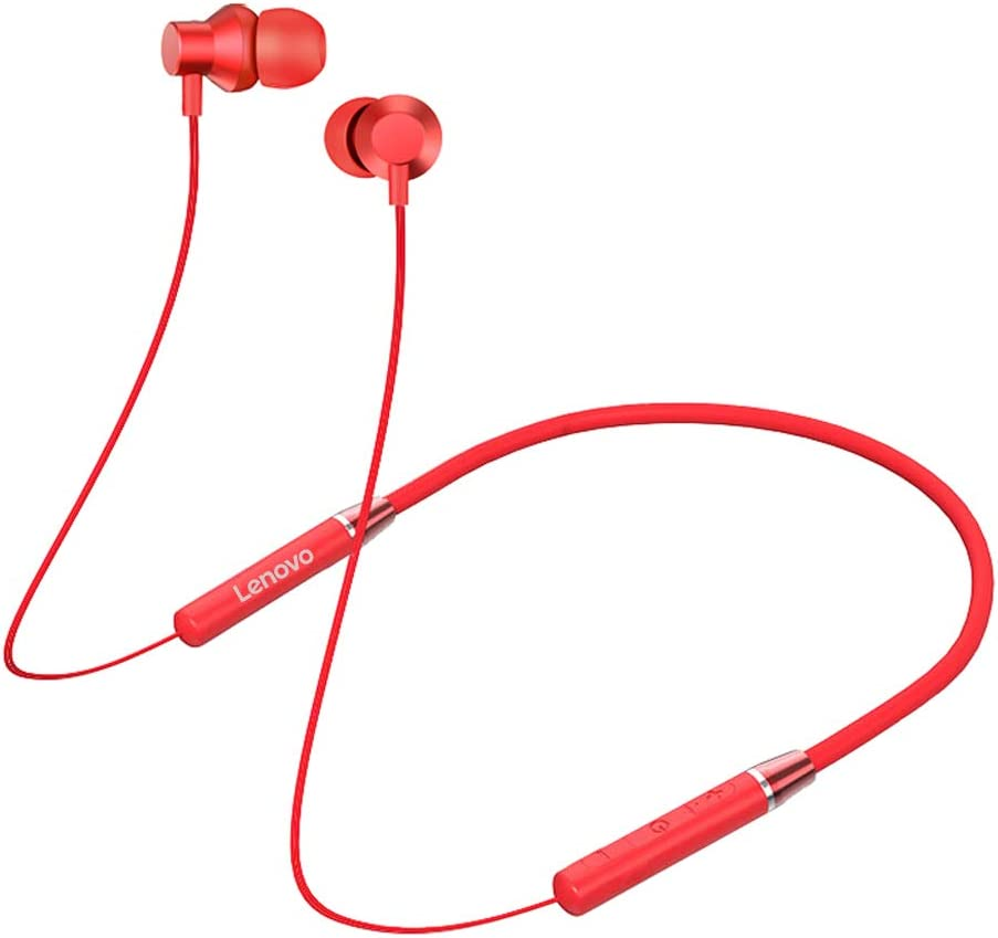 Lenovo HE05 Neckband Bluetooth Headset-Red