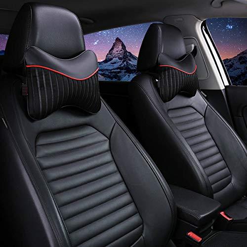 Auto-Nackenkissen, 2 Stück atmungsaktives, abriebfestes & umweltfre&liches ergonomisches Kopf- & Nackenstützkissen zur Erleichterung des Nackens,Black