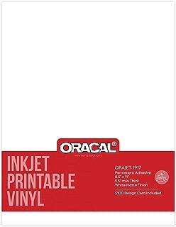 Oracal 1917 Inkjet Printable Permanent Adhesive Vinyl 8.5