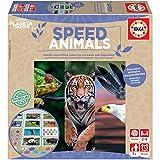 Educa- Planeta Tierra-Speed Animals Juego de Mesa Familiar realizado con Materiales 100% reciclados con 480 Preguntas rápidas sobre Animales, a Partir de 7 años (18709)