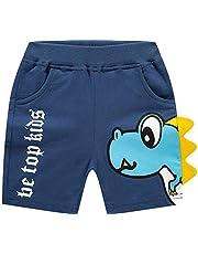 EULLA Pantalones cortos de verano para niños y bebés, con letras, para niños