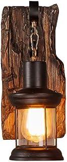 Luces De Madera Retro Rústico De La Sala De Estar Lámpara Salón LED EZ7 La Pared Del Dormitorio Creativas Pared Creativo De La Lámpara Antigua Del Nostalgia Interior Design Lámpara De Pared,A