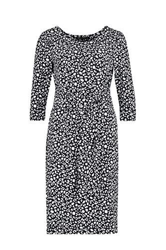 Expresso Delila Damen schwarzes-weißes Travel-Kleid mit L