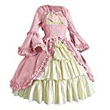 ❤ PPLICABLE AGE & OCCASION: The retro Renaissance costume dress is suitable for adult women or teen girls, it is the best choice for your Anime Expo, Masquerade Parties, Gifts, Halloween, Carnival, Christmas, Easter, New Years Eve Dress-up Party, Sta...