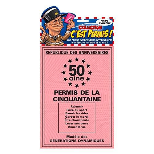 Permis conduire humoristique de la 50 aine anniversaire