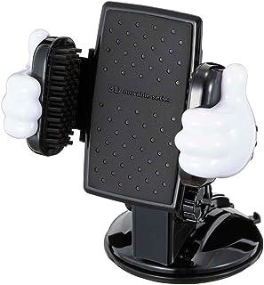 ナポレックス 車載ホルダー 簡単取付 ディズニー スマートフォンホルダー3D吸盤 ミッキーマウス 大型スマホ対応(最大幅90㎜) 360度調整可 粘着シート/強力ゲルパッド吸盤付(脱落防止設計) NAPOLEX WD-399