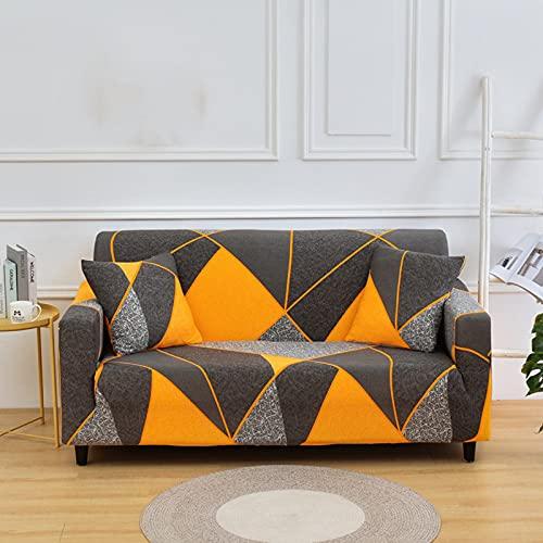 ABTSICA Funda elástica para sofá, Antideslizante Estampado poliéster elástico Spandex Brazo sillón Fundas para sofá Protector Universal para Muebles,1,4 Seater