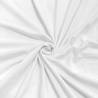 DTY Double Brushed Spandex Jersey Knit Fabric - 2 yards - White