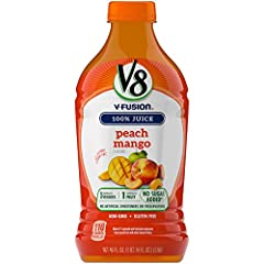 100% Juice, no artificial sweeteners, no sugar added 1 serving of vegetables and 1 serving of fruit [8 fl ounce has 1/2 cup vegetables and 1/2 cup of fruit. Dietary guidelines recommend 2 1/2 cups of a variety of vegetables and 2 cups fruit per day f...