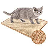 JUVEL Alfombrilla Scratcher Cat, Almohadilla De Sisal Natural, Estera para Rascar El Gato, Cuidado De Las Patas del Gato, Protege Alfombras, Muebles Y Sofás (S : 30×40cm)