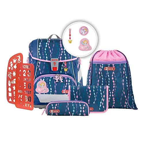Step b Step 2in1 Plus Schulranzen Set Mermaid 6tlg mit wählbaren Magic Mags (Prinzessin Lillifee, Rosarien)