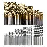 50 unids Twist Drill Set 1-3mm Taladro de blanco 100pc Acero de alta velocidad HSS Juego de taladro Twist Set de acero de alta velocidad Abrezal de acero ABAJO Carpintería Metal herramientas de plásti