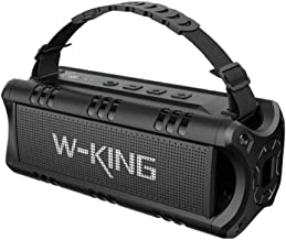 [Stay Strong, USA] Bluetooth Speakers, W-KING 30W TWS Portable Wireless Speakers, 24 Hours Playtime with Powerful Bass, NFC, TF Card, USB Playback, Built-in Mic, AUX, Waterproof Speaker for Home