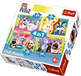 Trefl 34319 - Puzzle 4 en 1 Modelo The Secret Life of Pets 2 35-48-54-70 Piezas