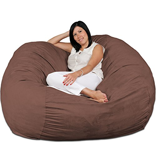 FUGU Large Bean Bag Chair, Premium Foam Filled 5 XL, Protective Liner Plus Removable Machine Wash Earth Cover