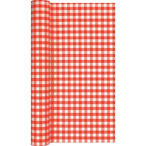 Home Fashion Tafelloper Tl Karo Rood 490X40 cm, Multi-Colour, One Size