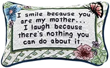 Manual 12.5 x 8.5-Inch Decorative Throw Pillow, I Smile I Laugh/Mother