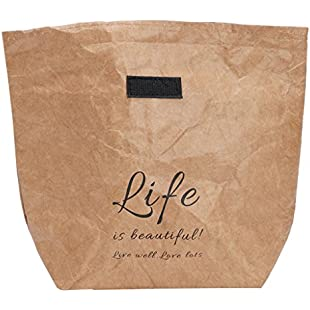 Kraft Paper Snack Lunch Bags Reusable Insulated Thermal Merchandise Grocery Bag