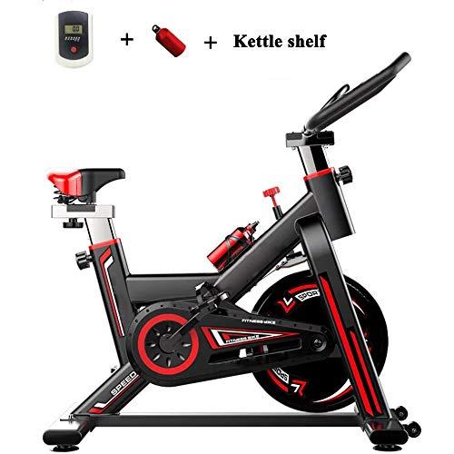 WANZIJING Indoor Spinning Heimtrainer, Spiral Variable Speed Adjustment Mute Aerobic Sportgeräte mit LCD Digital Display und Kettle