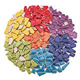 Ceramic Mosaic Tiles for Crafts Bulk, Various Sizes Mosaic Pieces for Mosaic Making Supplies(Mixed Colors, 1 Pound)