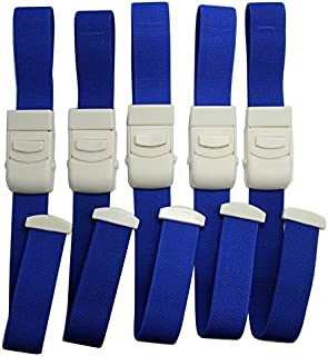 Hooshion 5 Pack Tourniquet Elastic First Aid Quick Release Medical Sport Emergency Tourniquet Buckle for Home Outdoor Activities (Blue)