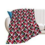 Überwurfdecke für alle Jahreszeiten, leicht, glatt, Stranddecke, 127 x 152 cm, Antigua & Barbuda-Flagge