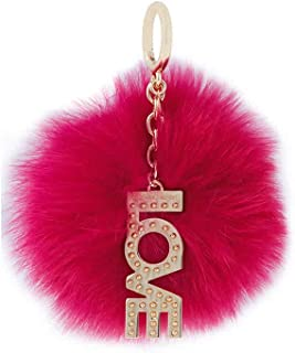 MICHAEL Michael Kors Love Pom Pom Keychain Charm Ultra Pink