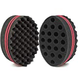 HALLO Big Holes Barber Hair Brush Sponge Dreads Locking Twist Afro Curl Coil Wave Hair Care Tool(1 Pack)