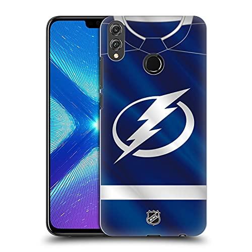 Head Case Designs Licenciado Oficialmente NHL Jersey Relámpago de Tampa Bay Carcasa rígida Compatible con Huawei Honor 8X / View 10 Lite