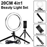 LQUIDE 24 LED 480LM 1.8 M Maquillaje Selfie Ring Lámpara Iluminación fotográfica con trípode Soporte para teléfono USB Plug Photo Studio (Color: A4)