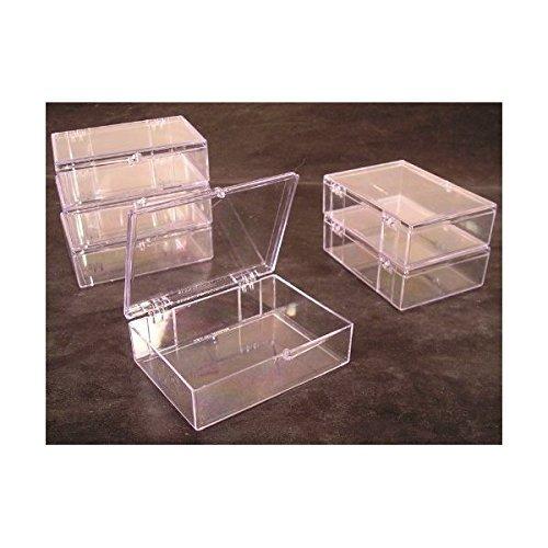 Outdoor Sport Miller Lot de 6 boîtes de Rangement en Plastique à charnière Transparent 55 carats