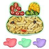 BelleStyle Plato de Silicona con Ventosa para Bebé, Plato de Alimentación, Plato Antideslizante...