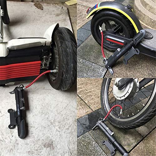 Deng Xuna Luftpumpe Reifenfüller für Xiaomi M365 Elektro Scooter, Mini Tragbar Cycling Air Pump Tires Inflator Sicherer und Langlebiger Elektroroller Zubehör Kit für Ninebot Mini Pro (Schwarz)