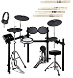 Yamaha DTX532K Electronic Drum Kit with Bass Drum Pedal, Adjustable Height Drum Throne, On-Ear...
