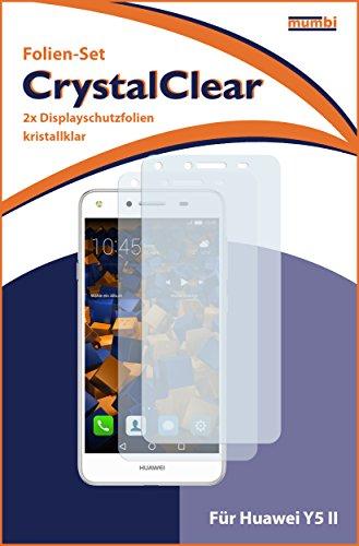 mumbi Schutzfolie kompatibel mit Huawei Y5 II Folie klar, Displayschutzfolie (2X) - 3