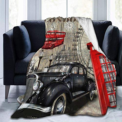 Nat Abra English Architecture Throw Blanket Super Soft Comfy Micro Fleece Fuzzy Blanket Decorative Blanket
