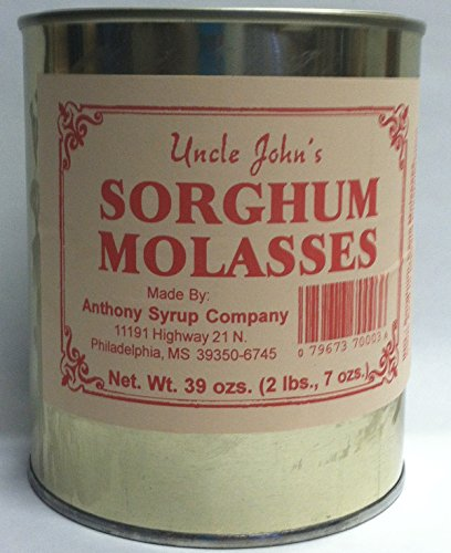 Uncle Johns Sorghum Molasses in a Metal 30 FL Ozs Can Weight 2lb 70z