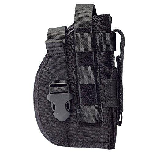 TTGTACTICAL La funda de pistola con muelle táctico de Glock 1911 45 92 96 con bolsillo de revista para airsoft caza (negro)
