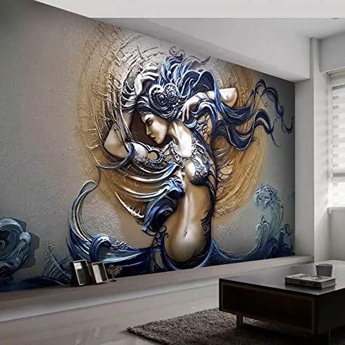VVNASD 3D Mur Peintures Murales des Autocollants Fond D'Écran Décorations Mode Art Beauté Chambre Fond Décoration Maison Art des Gamins Chambres À Coucher (W) 300X(H) 210Cm