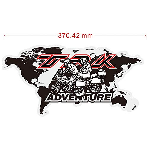 Teng-young Motorcycle Top Side Box Case Panniers Luggage Aluminium Stickers Decal for Benelli TRK502 TRK251 TRK 502 X 251 502X Adventure