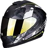 Scorpion Casco de moto EXO-1400 AIR SYLEX Matt Black-Silver, Negro/Gris, S