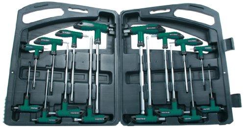 Brueder Mannesmann Werkzeuge M18190 Coffret de 16 clés à manche T