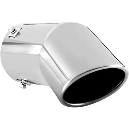exhaust tip to fit 2 75 to 3 inch exhaust tail pipe diameter stainless steel to give chrome effect car muffler tips