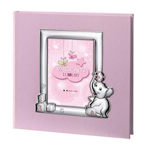 Valenti&Co - Álbum de fotos con diseño de elefante de 30 x 30 cm - 71703 3RA- Valenti&Co de 30 x 30 cm, ideal como regalo para nacimiento, bautizo, primer cumpleaños de niña
