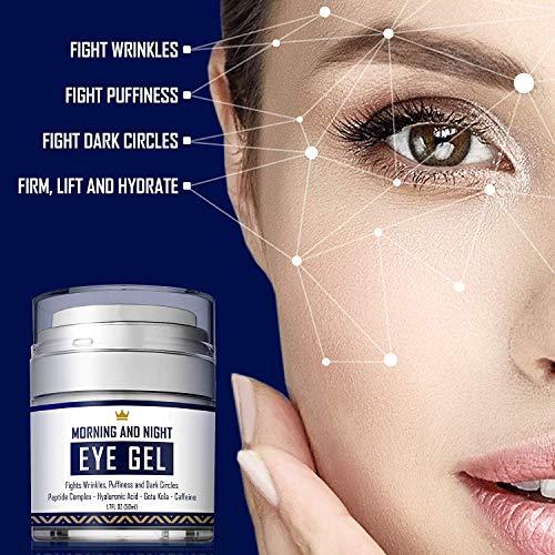 51ymvwcKYEL - Eye Cream - Dark Circles & Under Eye Bags Treatment - Reduce Puffiness, Wrinkles - Effective Anti-Aging Eye Gel with Hyaluronic Acid, Gotu Kola Extract and Caffeine - Refreshing Serum - 1.7oz