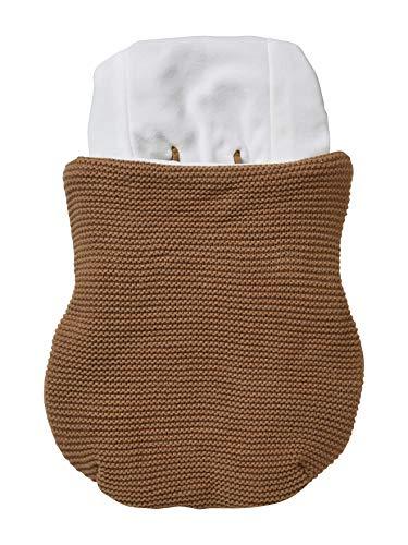Vertbaudet Fußsack für Kindersitz, gestrickt, mit Fleece gefüttert, Haselnussschale