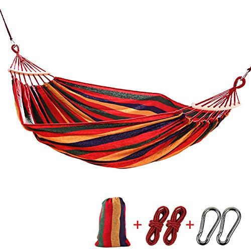 Draagbare Tuin Camping Hangmat Lichtgewicht Outdoor Camping Tuin Strand Reizen Canvas Hangmat