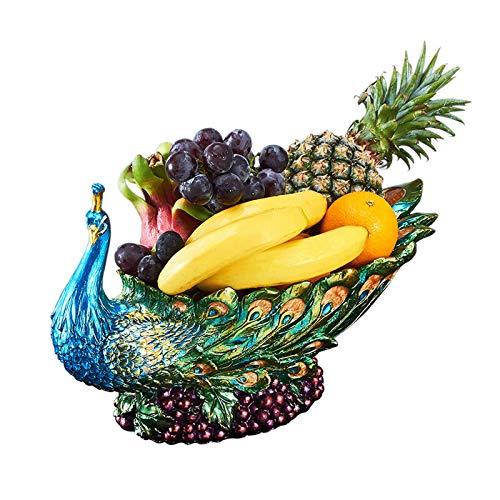 jinyi2016SHOP Frutero Lujo Creativo Fruta tazón Mesa de café Sala de Estar hogar Europeo Estilo Fruta Placa Perfecta Regalo de Boda Cestas para Frutas