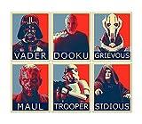 Star Wars Bösewichte Hope Poster – Set mit 6 Bildern