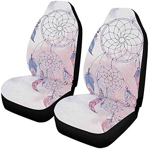 Set van 2 Autostoelhoezen Aroma Meditatie Brandende Kaars Aziatische Bamboe Basalt Universele Auto Voorstoelen Beschermer 14-17IN
